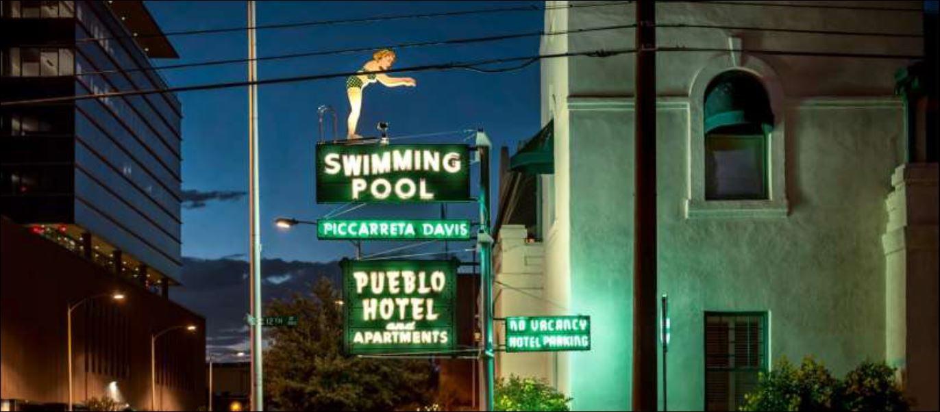 neon pool sign