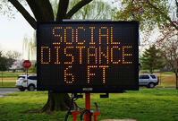 social distant sign