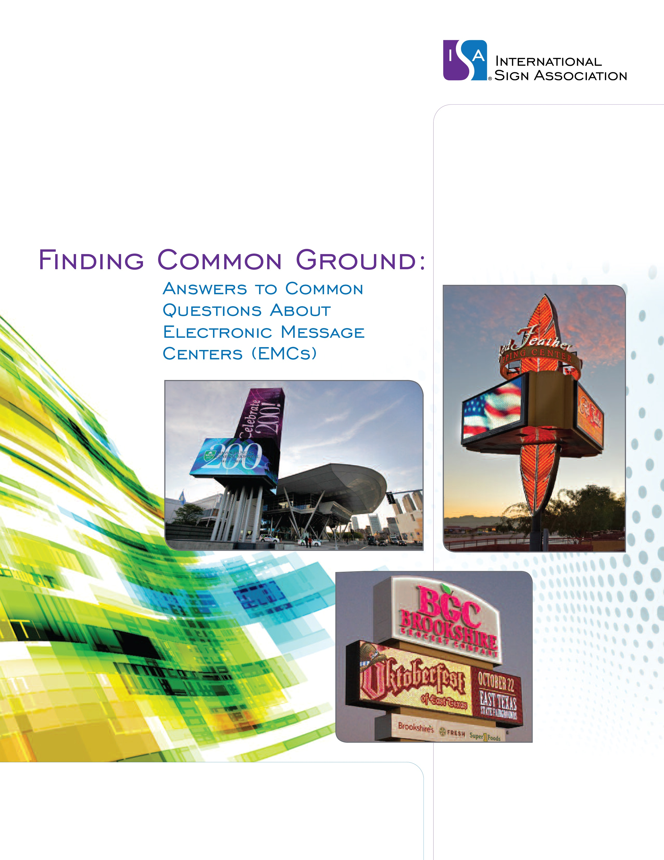Finding Common Ground: Answers to Common Questions about Electronic Message Centers (EMCs)