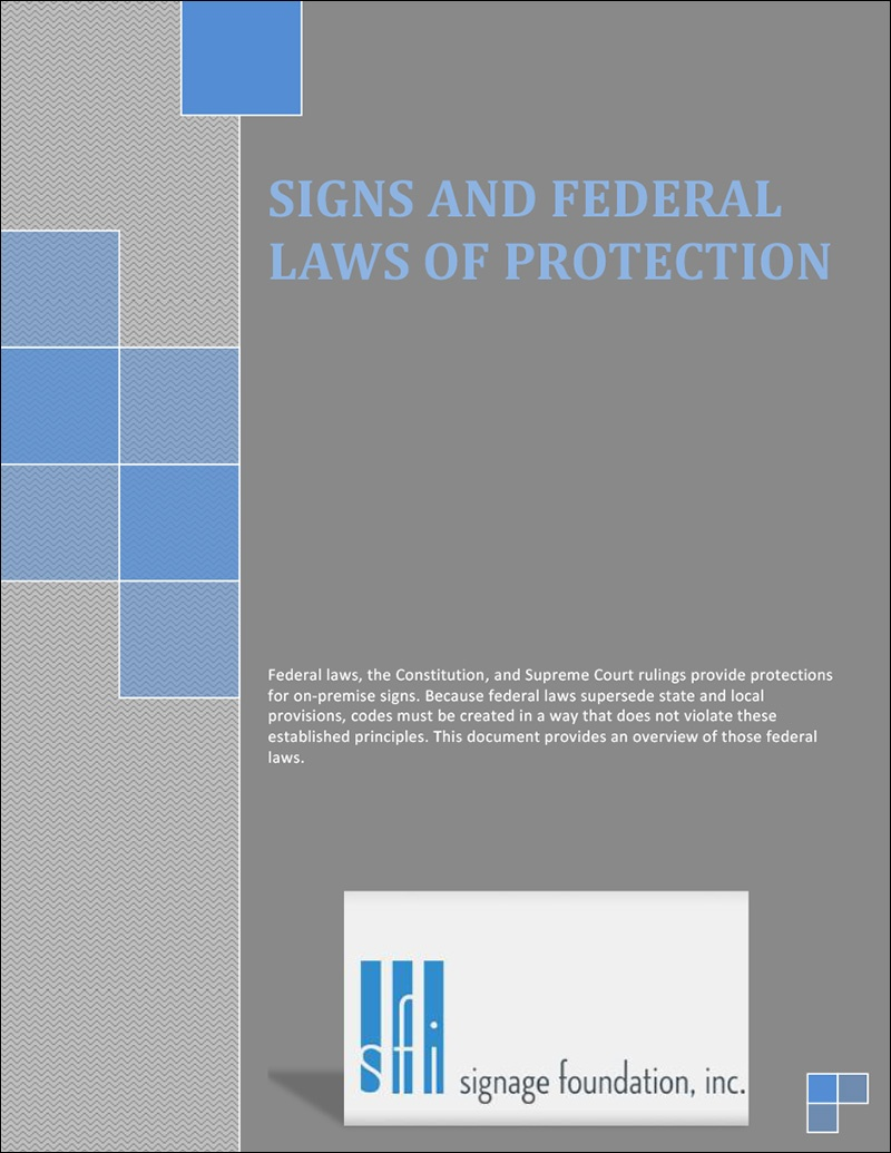Signs and Federal Laws of Protection
