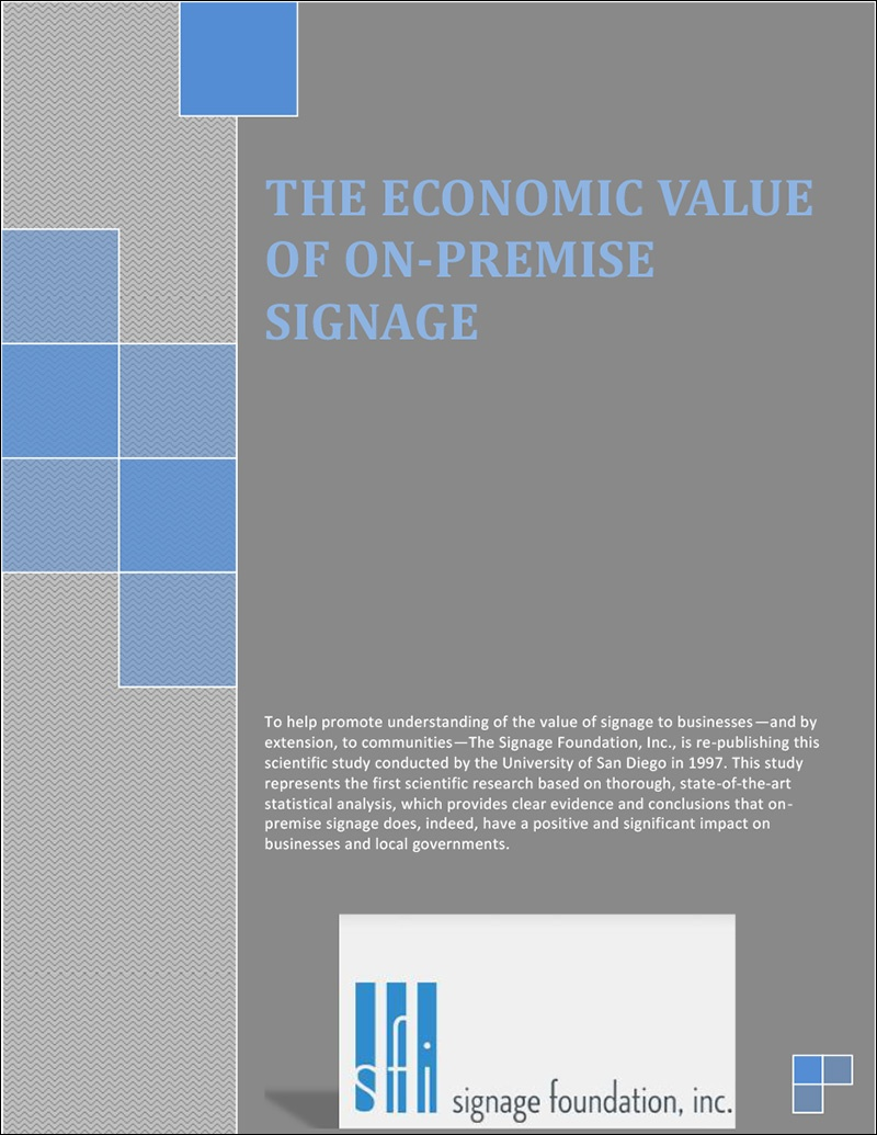 The Economic Value of On-Premise Signage (1997, San Diego)