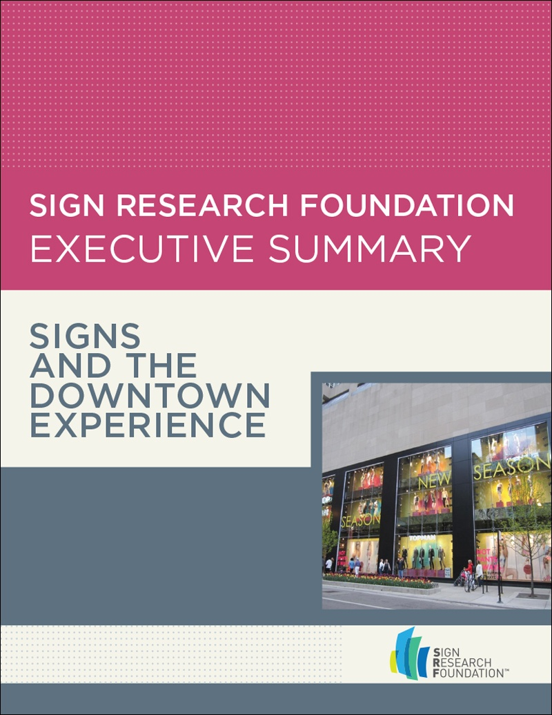 Executive Summary: Signs and the Downtown Experience