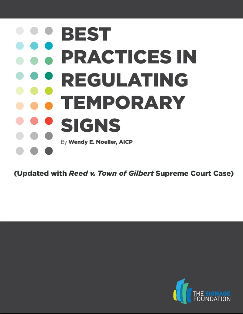 Best Practices in Regulating Temporary Signs